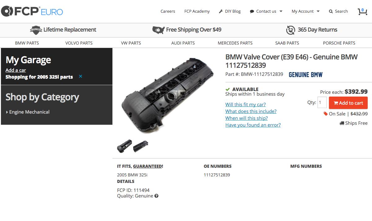 Where to Buy E46 Valve Cover