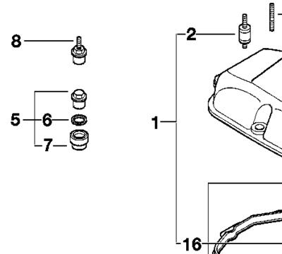 e46 valve cover grommets